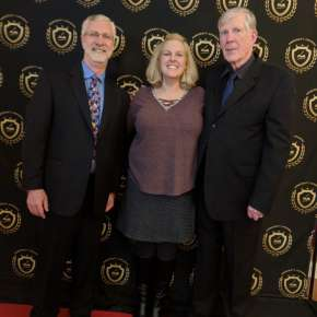 2018 Pencraft Award Dinner and Ceremony David and Stacie Hearne (AuthorsReading.com) with presenter Alan Bourgeois (txauthors.com)