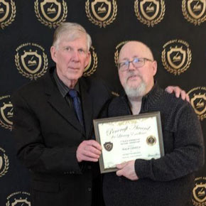 "2018 Pencraft Award Dinner and Ceremony Philip Derrick Award Winning Author of ""Facing the Dragon"" with David Hearne (AuthorsReading.com)"