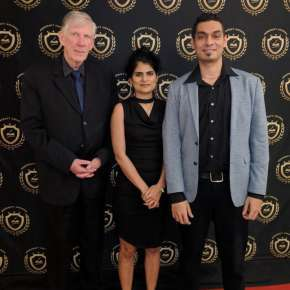 2018 Pencraft Award Dinner and Ceremony David with Raul and our newest reviewer.�